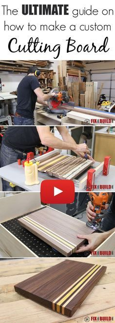 The ULTIMATE guide on how to make a Custom Cutting Board. Every step shown in a detailed video!