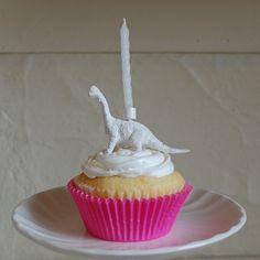 Vintage Dinosaur Cupcake Cake Topper in White by bitchinthekitsch Dinosaur Cupcake Cake, Cupcake Cakes, Dinosaur Land, Dinosaurs, Cake Toppers, Parties, Inspire, Handmade Gifts, Desserts