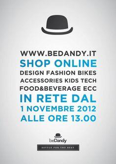Ideazione dell'immagine grafica del sito web di shop online beDandy.it