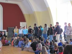 Tamarack's 9th grade class sang at the all school assembly yesterday.
