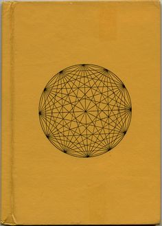 Sacred Geometry | Geometric Graphic Design | Aged Yellow Hardcover | Vintage Science Book | Antique