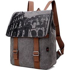 Canvas Backpack Restoring Ancient Ways  Trend of Outdoor RucksackGray >>> Check this awesome product by going to the link at the image.(This is an Amazon affiliate link and I receive a commission for the sales)