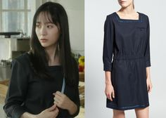 "Krystal 크리스탈 in ""She's So Lovable"" Episode 2.  A.P.C. Blue Sailor Dress #Kdrama #ShesSoLovable 내겐 너무 사랑스러운 그녀 #Krystal"