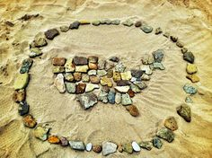 Write a message on the sand or do a simple design take photo - zazzle etc