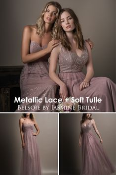 Jasmine Bridal is home to 8 separate designer wedding labels as well as two of our own line. Jasmine is the go to choice for wedding and special event dresses. Simple Bridesmaid Dresses, Designer Bridesmaid Dresses, Bridesmaids, Prom Dresses, Formal Dresses, Jasmine Bridal, Metallic Lace, Bridal Parties, Wedding Labels