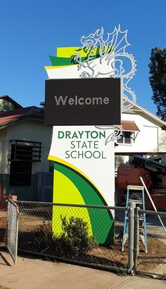 Danthonia Designs (@DanthoniaDesign) / Twitter State School, Led Signs, Business Signs, Monuments, Signage, Gate, Interiors, Twitter, Design