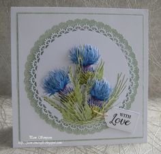 """DT Sample cards for Tattered Lace """"Bohemian Garden Collection"""" launching on Create and Craft TV. Create And Craft Tv, Tattered Lace Cards, 3d Cards, Craft Cards, Elizabeth Craft Designs, Floral Theme, Scrapbook Cards, Scrapbooking, Flower Cards"""