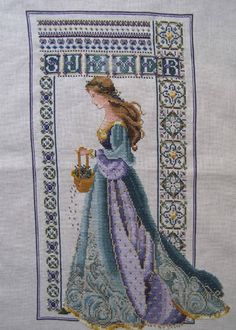 Celtic Summer by Lavender and Lace  stitched  September 2007.  The 3rd I've stitched of Marilyn Leavitt-Imblum's Celtic Sisters, as they are commonly known.