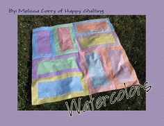 Happy Quilting: In Case you Missed It . . . Watercolors Tutorial