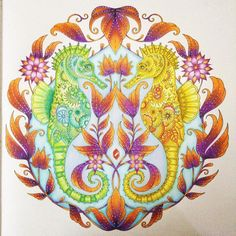 """finally Done #lostoceancoloringbook #lostocean #johannabasford #adultcoloringbook"""