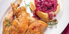 Egy finom Fácán combja-melle lilahagyma-lekvárral, rozmaringos polentával vacsorára, ebédre