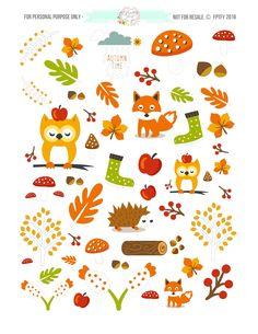 Autumn-Animals-Planner-Stickers-1.jpg (2550×3300)