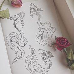 ideas for flower line art design illustrations Tattoo Sketches, Tattoo Drawings, Art Sketches, Line Art Design, Line Art Flowers, Flower Art, Kunst Tattoos, Body Art Tattoos, Tatoos