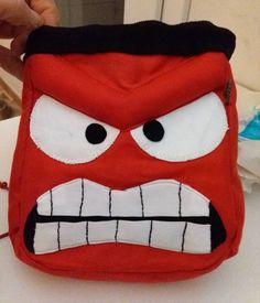 Anger Inside out climbing chalkbag handmade by LaSte