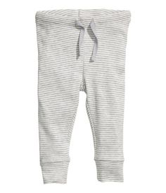 Jersey Pants 》$5.95《 Pants in soft, organic cotton jersey with elasticized drawstring waistband and cuffs at hems.