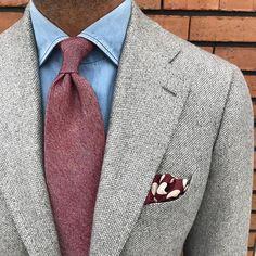 7-Fold 100% cashmere tie & Handprinted silk pocket square... Shop online at www.violamilano.com #violamilano #handmade #madeinitaly #luxury #style #menswear