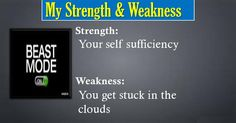 Check my results of Find your Strength and Weakness Facebook Fun App by clicking Visit Site button