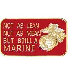 USMC Lean Mean Hat/lapel Pin
