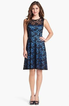 Ivy & Blu for Maggy Boutique Lace Fit & Flare Dress available at #Nordstrom