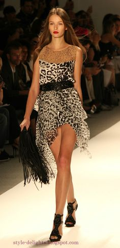 Fringes and Animals: Carlos Miele Spring 2013 collection at NYFW