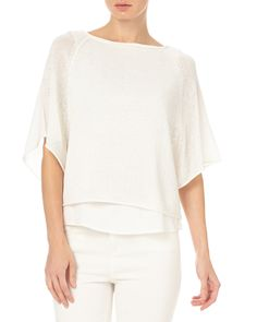 All New Arrivals | White Patrizia Double Layer Knit Top | Phase Eight