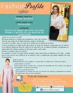 #FashionProfile de Julio 2014: Conocé más sobre Debbie Goldfarb, Consultora en imagen personal y Personal Shopper uruguaya.