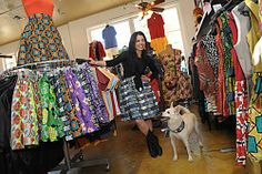 Pop City is a fun fashion destination in New Orleans, featuring owner Rhonda Findley's own line, To The Nines, which incorporates African tribal prints into retro silhouettes.