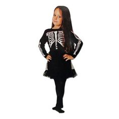 This girls skeleton Halloween costume with black and white tutu will be a hit at your next dress up party. Includes: Dress Sizing Ages for Height Chest: Waist: Next Dresses, Fancy Dress Outfits, Dress Up, Skeleton Halloween Costume, Childrens Fancy Dress, White Tutu, Black And White, Girls, Collection