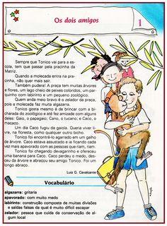 Trabalhando com o texto: Os Dois Amigos – 4º ano | Rérida Maria