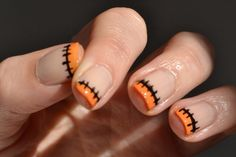 Sencillo maquillaje de uñas perfecto para Halloween | Decoración de Uñas - Manicura y Nail Art