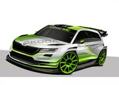 ŠKODA Motorsport is entering a new category in the FIA World Rally Championship The successful FABIA will be joined by the KODIAQ WRC destined for Skoda Kodiaq, Skoda Fabia, Racing Car Design, Miniature Cars, Hot Rod Trucks, Automotive News, Car Painting, Rally Car, Car Wrap