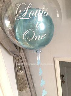 1st birthday bubble balloon