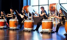 The sound of the taiko...