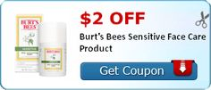$2.00 off Burt's Bees Sensitive Face Care Product