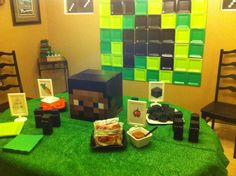 Minecraft Party (plates on wall)