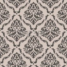 Seamless floral pattern for background design in victorian style photo