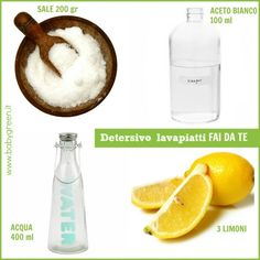 Detersivo lavapiatti fai da te: in 15 minuti e a costo zero House Cleaning Tips, Cleaning Kit, Diy Cleaning Products, Homemade Detergent, Essential Oils Soap, Doll Home, Plate, Fresh And Clean, E 10