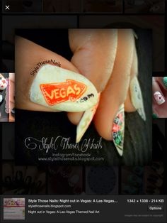 X Vegas Nails, Nail Art Images, Class Ring, Night Out, Style, Swag, Outfits