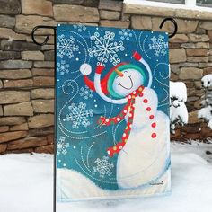 Rain or Shine 1.04-ft W x 1.5-ft H Winter Garden Flag at Lowes.com