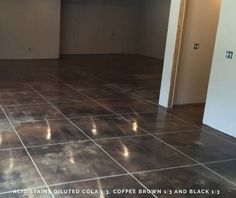Concrete Floor Stain Ideas - Direct Colors DIY Home Projects
