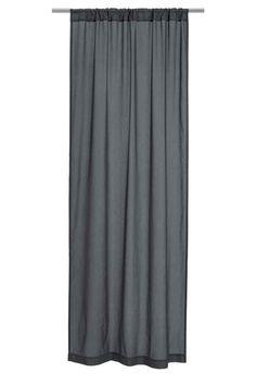 Zasłona 2-pak: Woalowe zasłony z bawełny i poliestru z szerokim tunelem na drążek do zawieszania.