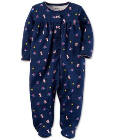"""Carter's Blue Fox Printed Snap Front Footie - Babies""""R""""Us Baby Girl Pajamas, Carters Baby Girl, Baby Girls, Baby Boy, Toddler Outfits, Kids Outfits, Baby Girl One Pieces, Carter Kids, Fox Print"""