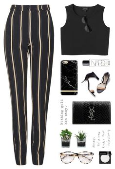 """Striped Trousers"" by starit ❤ liked on Polyvore featuring Topshop, 3.1 Phillip Lim, Monki, NARS Cosmetics, Yves Saint Laurent, Givenchy, Threshold, Prism and MAKE UP FOR EVER"