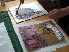 ▶ Printing A Collagraph Plate with Acrylic Paint by Lois DeWitt