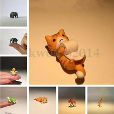 Lot-Mini-Animals-Ornament-Dollhouse-Office-Home-Car-Furnishing-Articles