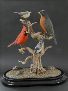 Recently completed carvings by Tom Ahern