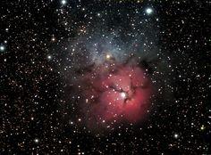Nebula   The Trifid Nebula in Sagittarius is so named because of its three dark ...