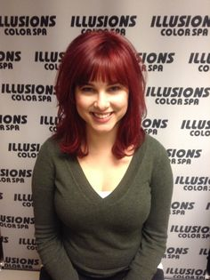 #haircolor done @illusionscolorspa #elumen #goldwell #redheads #redhair #bangs