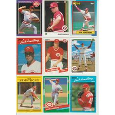 Huge 25 + Different JACK ARMSTRONG cards lot RC 1989 - 1994 Reds Rangers Indians Listing in the 1990-1999,Sets,MLB,Baseball,Sports Cards,Sport Memorabilia & Cards Category on eBid United States | 147993816