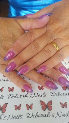 Natural nail overlay with UV colour change gel